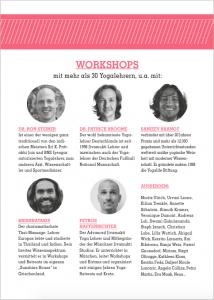 World of Yoga 2014 Workshops und Lehrer