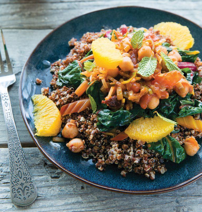 Rezept-Tipp: Kichererbsen-Quinoa-Topf mit Mangold und Lauch