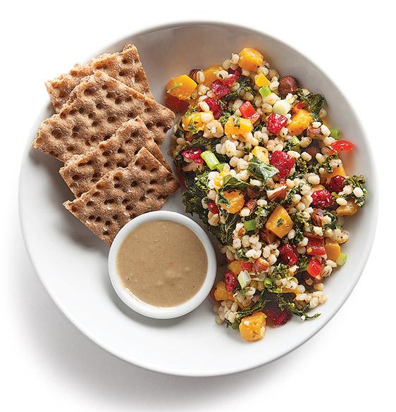 Rezept-Tipp: Kürbis-Gerste-Grünkohl-Salat