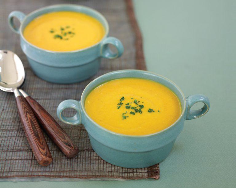 Vata-ausgleichende Kürbissuppe