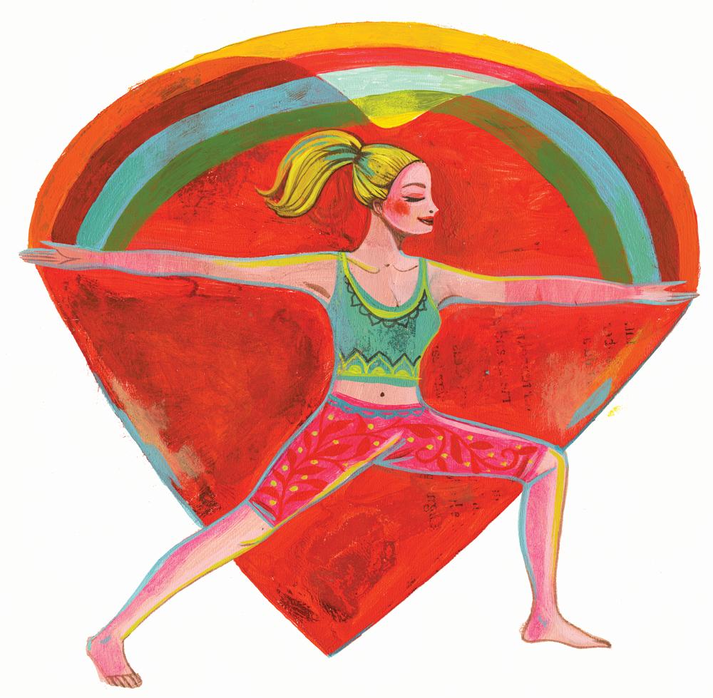Yogaübungen Inspiration Krieger