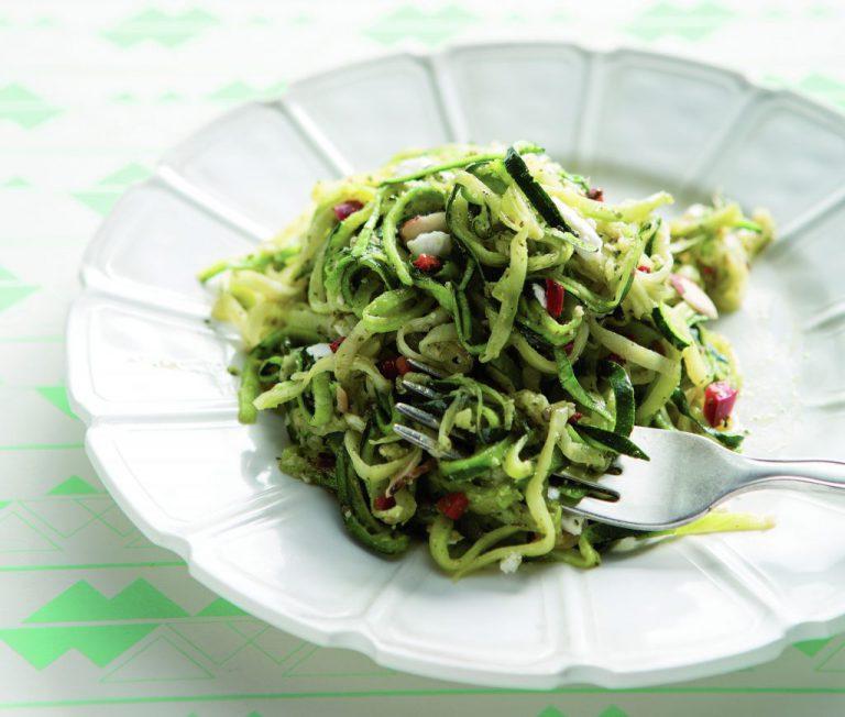 Rezept: Zucchini-Pasta mit Minz-Pesto
