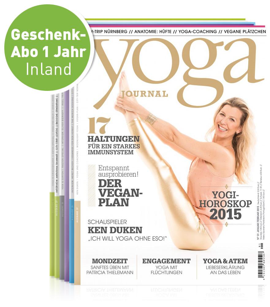 Yoga Journal 1 Jahr Geschenk Abonnement Inland Yoga World Home