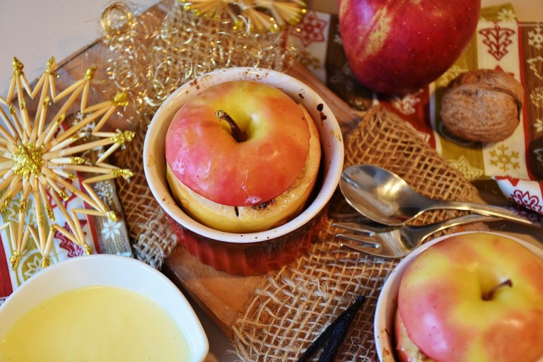 Bratapfel mit Maronen-Füllung