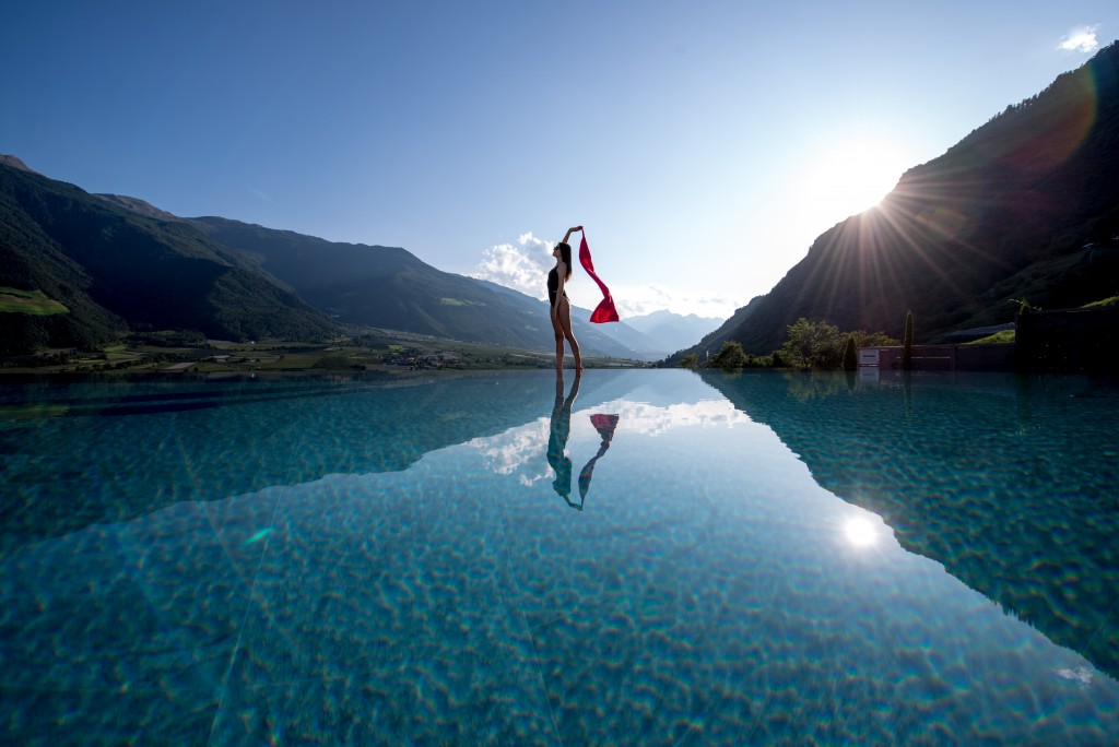 Infinity Pool Spa Yoga Retreat Preidlhof