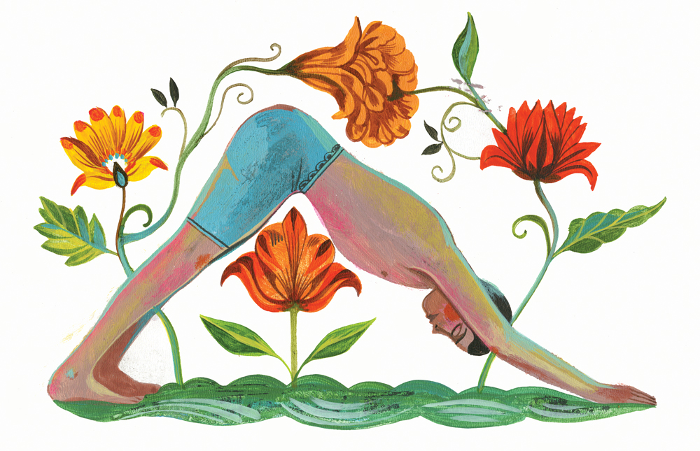 Yogaübungen Inspiration - herabschauender Hund