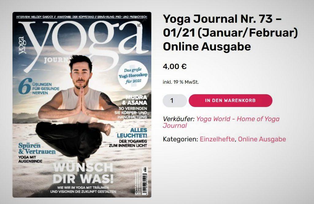 Online Ausgabe Yoga Journal