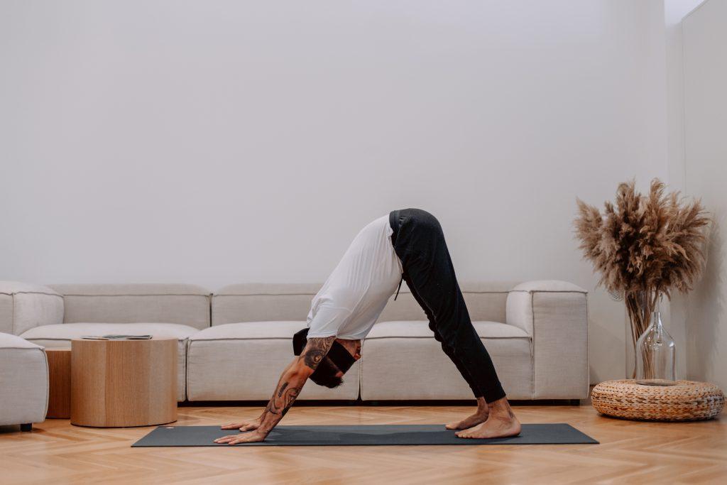 Marcel Clementi Blindfold Yoga